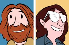Caricaturas con las que les gusta retratarse a los autores Zach y KellyWeinersmith. / ZachWeinersmith