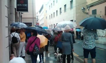 Manifestación realizada en la calle Murillo de Valencia para protestar por la saturación de tráfico (12)