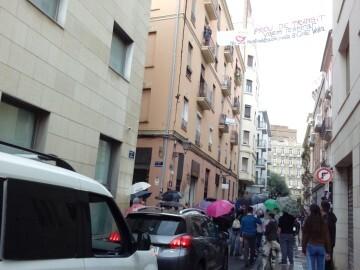 Manifestación realizada en la calle Murillo de Valencia para protestar por la saturación de tráfico (4)