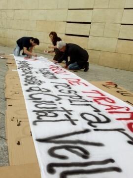 Manifestación realizada en la calle Murillo de Valencia para protestar por la saturación de tráfico (6)