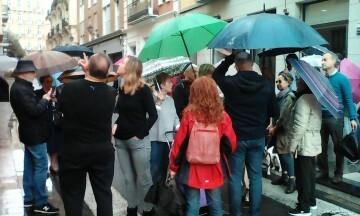 Manifestación realizada en la calle Murillo de Valencia para protestar por la saturación de tráfico (9)