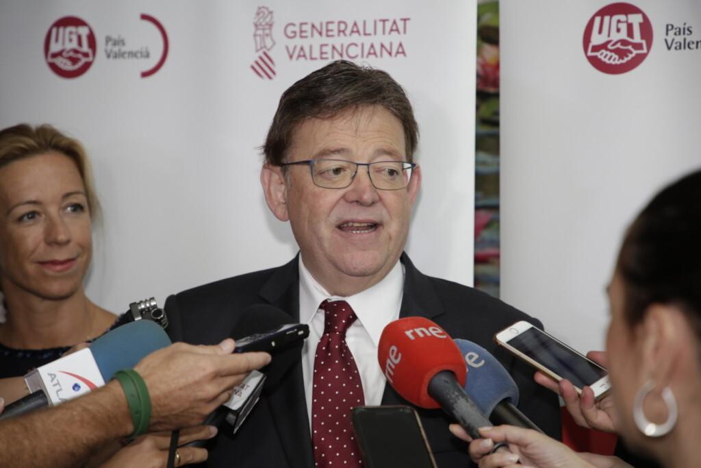 Puig asegura que 'el gran objetivo de la Generalitat es desestacionalizar el empleo' en el sector turístico