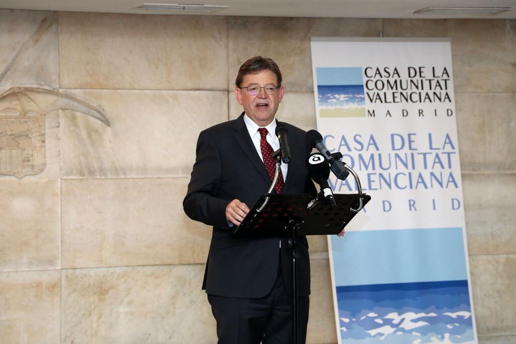Puig destaca que la Comunitat tiene la oportunidad de crear un nuevo tiempo económico y social