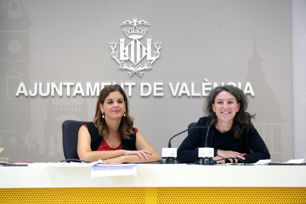 VALENCIA  2018-10-26 Rueda de prensa Sandra G—mez y Mar'a Oliver, portavoces de la Junta de Gobierno.