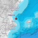 El golfo de Valencia registra un terremoto de magnitud 2,5