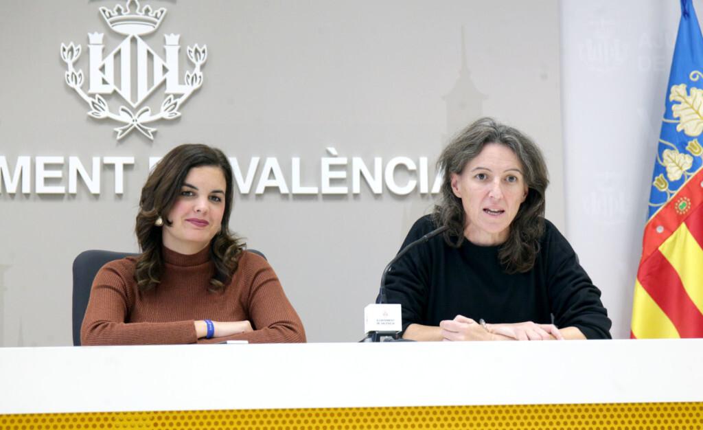 VALENCIA 2018-11-30 Sandra Gómez y María Oliver en rueda de prensa Junta de Gobierno