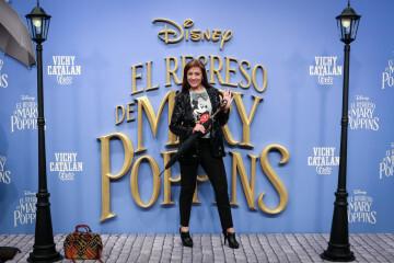 MADRID, SPAIN - DECEMBER 11: Actress Pepa Aniort attends 'El Regreso de Mary Poppins' premiere at Kinelpolis cinema on December 11, 2018 in Madrid, Spain. (Photo by Pablo Cuadra/Getty Images for Walt Disney Studios)
