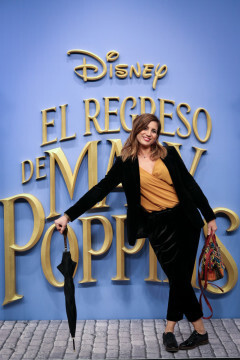 MADRID, SPAIN - DECEMBER 11: Actress Lucia Jimenez attends 'El Regreso de Mary Poppins' premiere at Kinelpolis cinema on December 11, 2018 in Madrid, Spain. (Photo by Pablo Cuadra/Getty Images for Walt Disney Studios)
