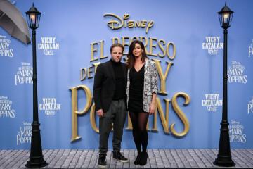MADRID, SPAIN - DECEMBER 11: Actor Juan Diaz (L) attends 'El Regreso de Mary Poppins' premiere at Kinelpolis cinema on December 11, 2018 in Madrid, Spain. (Photo by Pablo Cuadra/Getty Images for Walt Disney Studios)