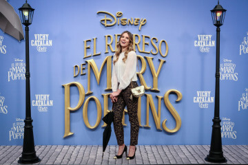 MADRID, SPAIN - DECEMBER 11:  attends 'El Regreso de Mary Poppins' premiere at Kinelpolis cinema on December 11, 2018 in Madrid, Spain. (Photo by Pablo Cuadra/Getty Images for Walt Disney Studios)