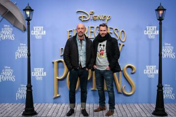 MADRID, SPAIN - DECEMBER 11: Designers Arnaud Maillard and Alvaro Castejon of Alvarno attend 'El Regreso de Mary Poppins' premiere at Kinelpolis cinema on December 11, 2018 in Madrid, Spain. (Photo by Pablo Cuadra/Getty Images for Walt Disney Studios)