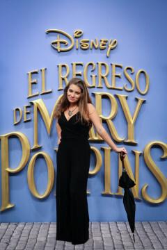 MADRID, SPAIN - DECEMBER 11: Actress Carlota Boza attends 'El Regreso de Mary Poppins' premiere at Kinelpolis cinema on December 11, 2018 in Madrid, Spain. (Photo by Pablo Cuadra/Getty Images for Walt Disney Studios)