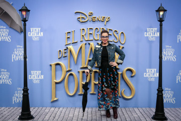 MADRID, SPAIN - DECEMBER 11: Carme Chaparro attends 'El Regreso de Mary Poppins' premiere at Kinelpolis cinema on December 11, 2018 in Madrid, Spain. (Photo by Pablo Cuadra/Getty Images for Walt Disney Studios)