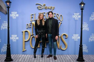 MADRID, SPAIN - DECEMBER 11: (L-R) Maria Pombo and Pablo Castellano attend 'El Regreso de Mary Poppins' premiere at Kinelpolis cinema on December 11, 2018 in Madrid, Spain. (Photo by Pablo Cuadra/Getty Images for Walt Disney Studios)