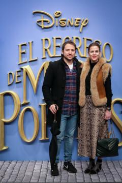MADRID, SPAIN - DECEMBER 11: (L-R) Manuel Martos and Amelia Bono attend 'El Regreso de Mary Poppins' premiere at Kinelpolis cinema on December 11, 2018 in Madrid, Spain. (Photo by Pablo Cuadra/Getty Images for Walt Disney Studios)
