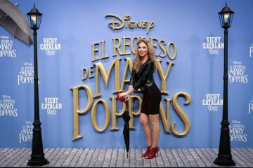 MADRID, SPAIN - DECEMBER 11: Singer Roser attends 'El Regreso de Mary Poppins' premiere at Kinelpolis cinema on December 11, 2018 in Madrid, Spain. (Photo by Pablo Cuadra/Getty Images for Walt Disney Studios)