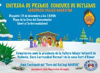 Cartel Premios Belenes Agrupación Fallas Marítimo 2018