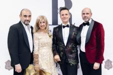 Los diseñadores Julio Vera, Mª Rosa Fenollar, Luis Rocamora y Miguel de Cruces