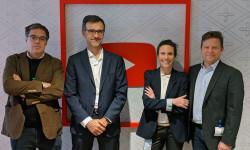De izquierda a derecha: Ignacio Gómez, director de RTVE Digital & Investigación, Eduard Nafría, Insights & Business Development Director de Kantar Media, Justine Ryst, directora de YouTube para el Sur de Europa y Tinet Rubira, director de Gestmusic Endemol.