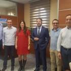 El sector empresarial de Riba-roja celebra un encuentro navideño con el alcalde y la secretaria autonómica