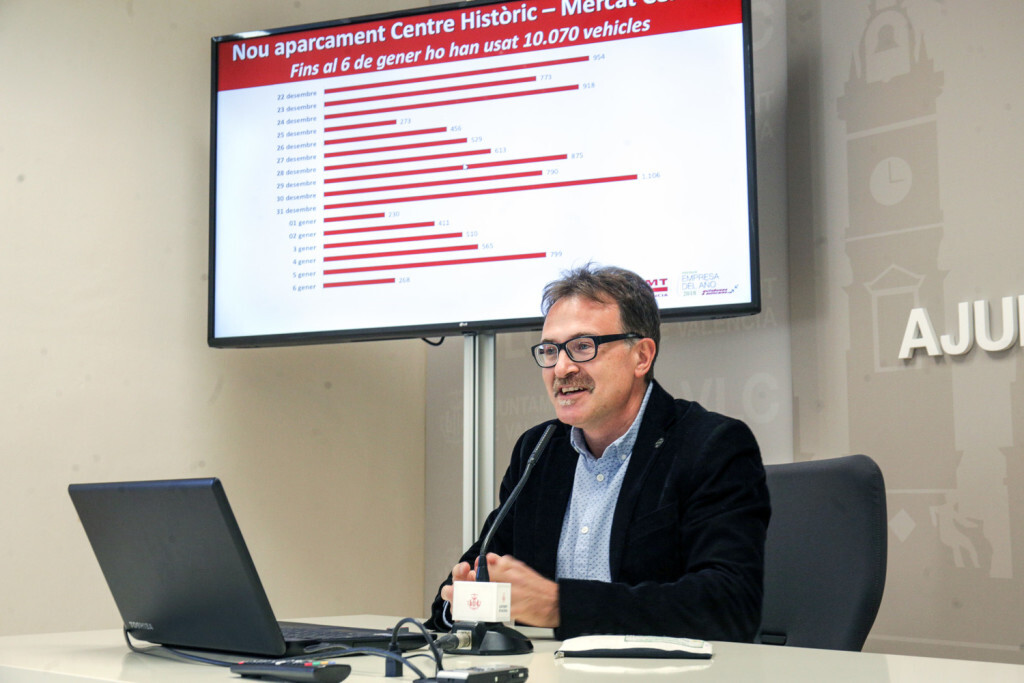 VALENCIA  12:09:51 Grezzi presenta en rueda de prensa el Balance de los datos de la EMT