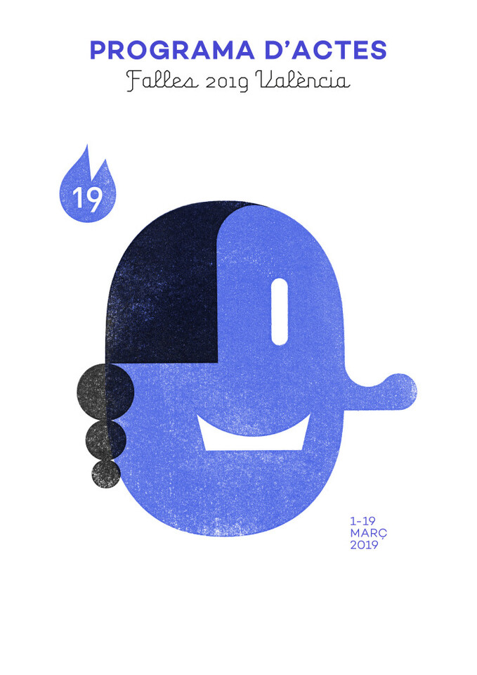 0121 imatge gràfica Falles 2019 actes blau