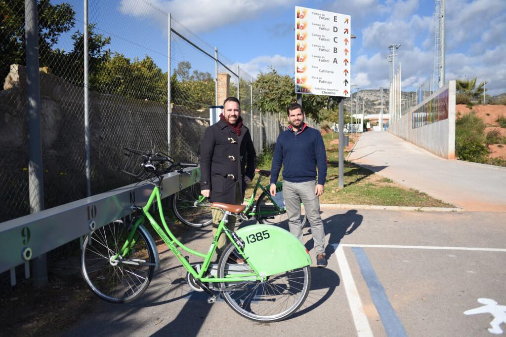 03-01-2019 Nou carril bici i bancada de Bicicas per a connectar les instal·lacions esportives del Chencho i Sindical2