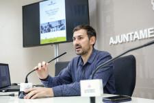 VALENCIA  13:02:16 El regidor de Govern Interior, Sergi Campillo, presenta en roda de premsa diversos projectes d'enllumenat i eficincia energtica.