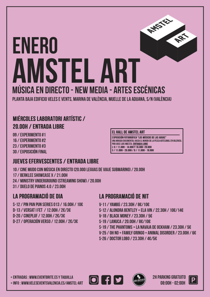 CARTEL ENERO AMSTEL ART