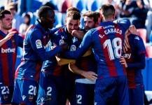 Levante celebra un gol