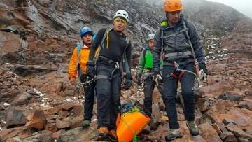Montañeros muertos rescatados