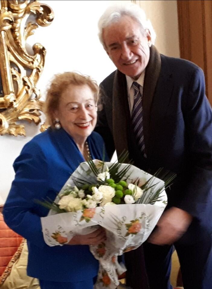 Foto Princesa Elettra Marconi y Luis del Olmo. Roma.