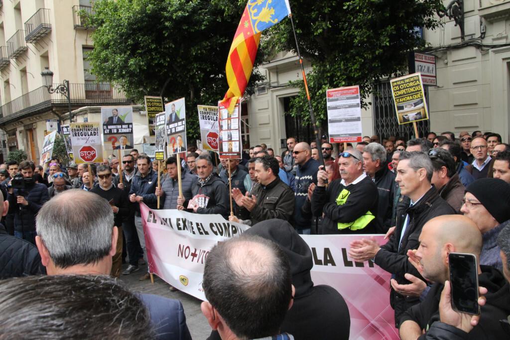 Protesta taxistas Palau Generalitat