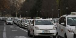 manifestacion taxistas Torres Serranos