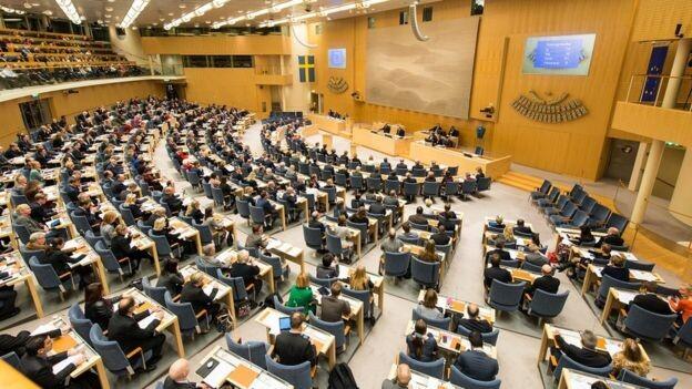 El Parlamento sueco cuenta con 349 diputados.