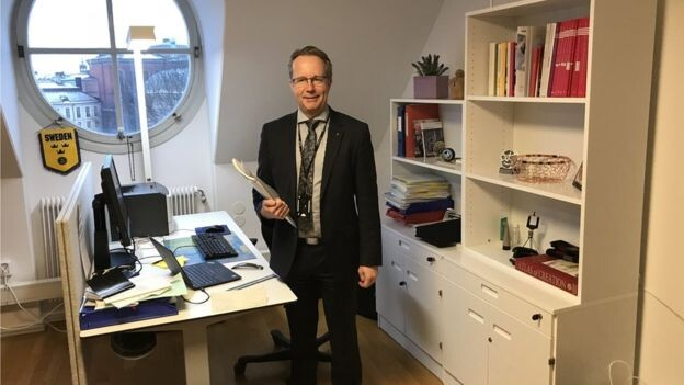 Los diputados suecos, como Per-Arne Håkansson, no tienen secretaría ni asesores personales.