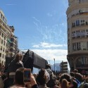 "La mascletà de Valenciana tiñe de naranja la plaza en un homenaje al Valencia CF con ""final apoteósico"""