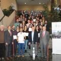 Adjudicatarios de las becas junto con representantes colegiales Dres. Ibor, Ortega, Ballester y Mainar
