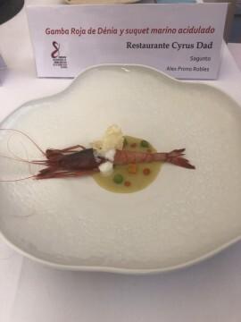 El chef Alejandro Serrano, del Restaurante Alejandro, ganador de la 8ª edición del Concurso Creativo de la Gamba Roja de Dénia (5)