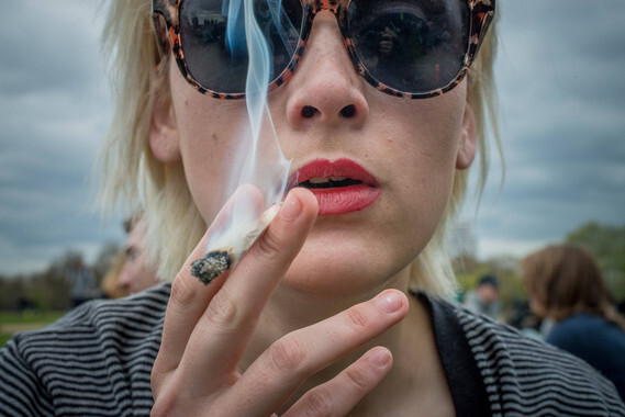 April 19, 2015 - Hundreds attend the 420 Pro Cannabis Rally in Londons Hyde Park