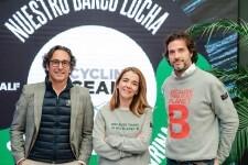 Jose Carlos Macías, asesor técnico de la Cofradía de pescadores de Sanlúcar de Barrameda; Nieves Rey de Ecoembes; Javier Goyeneche de Ecoalf