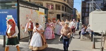 La Junta Local Fallera de Xátiva visita Valencia en la recepción fallera (122)