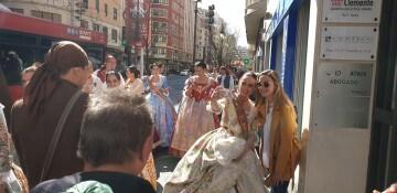 La Junta Local Fallera de Xátiva visita Valencia en la recepción fallera (128)