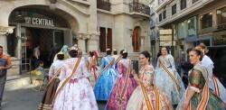 La Junta Local Fallera de Xátiva visita Valencia en la recepción fallera (134)