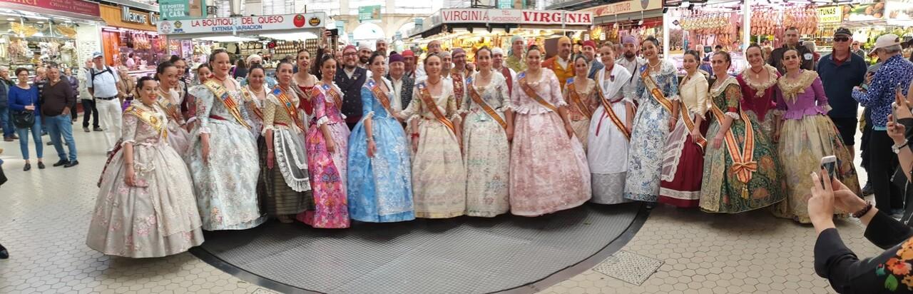 La Junta Local Fallera de Xátiva visita Valencia en la recepción fallera (161)