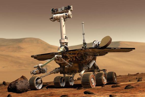 Ilustración del rover Opportunity recorriendo la superficie marciana. / NASA