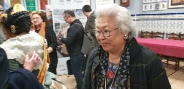 La falla Espartero G.V Ramón y Cajal recibe a la delegación deexpertos enindumentaria de Unesco (14)