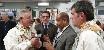 La falla Espartero G.V Ramón y Cajal recibe a la delegación deexpertos enindumentaria de Unesco (19)