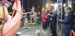 La falla Espartero G.V Ramón y Cajal recibe a la delegación deexpertos enindumentaria de Unesco (2)