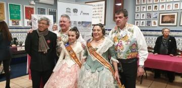 La falla Espartero G.V Ramón y Cajal recibe a la delegación deexpertos enindumentaria de Unesco (20)